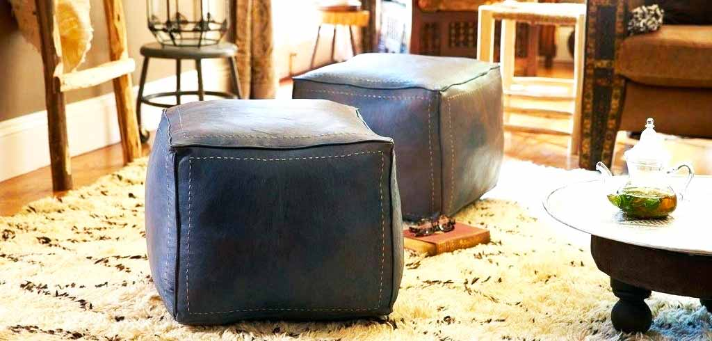Superb Moroccan Pouf Ottoman Moroccan Handmade Poufs Ottoman And Machost Co Dining Chair Design Ideas Machostcouk