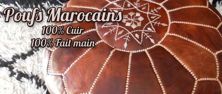 pouf marocain de marrakech s233lection de poufs marocains