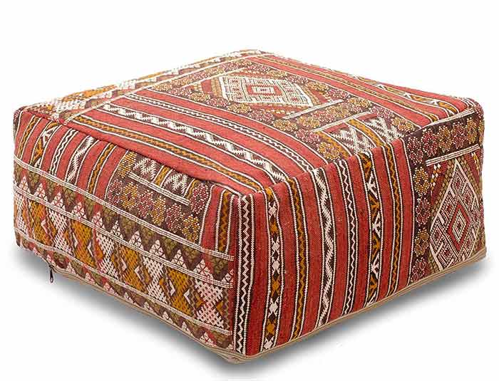 Groovy Berber Ottoman Kilim Lamtechconsult Wood Chair Design Ideas Lamtechconsultcom