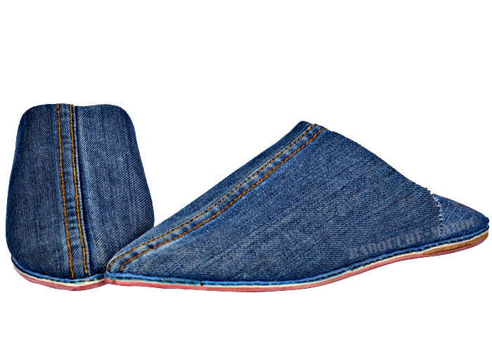 Babouches Denim
