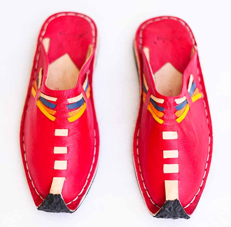 babouche-aladin-rouge-Kenata slippers