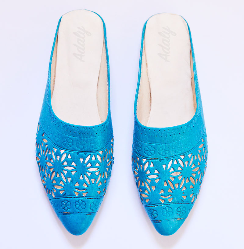 babouche-alicia-turquoise-Alice Slippers Babouche