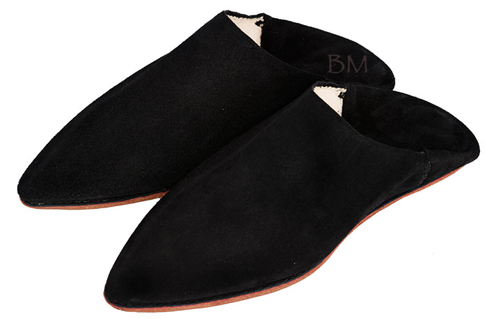 Suede Slippers Babouche | image 2