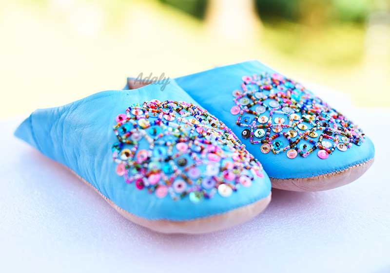 Colored Glitters Slippers