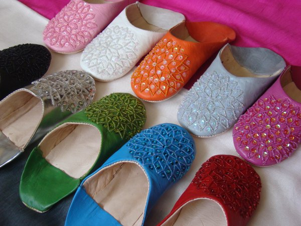 babouche-paillettes moroccan slippers sequins for woman