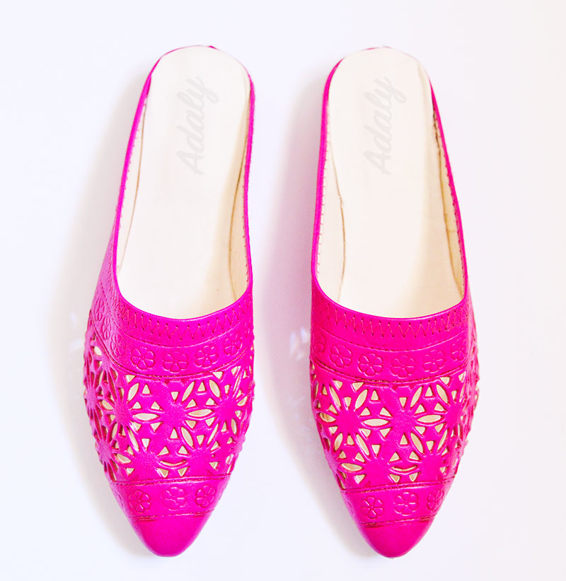 babouches-alice-fuchsia-Alice Slippers Babouche