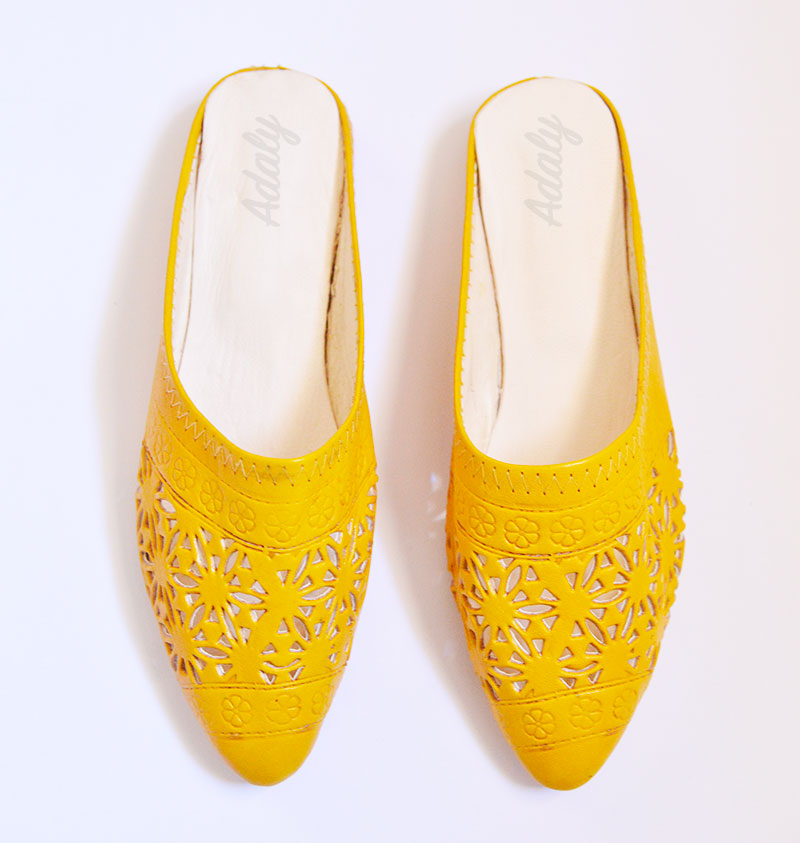 babouches-alice-jaune-Alice Slippers Babouche