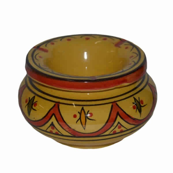 Yellow Moroccan Ashtray