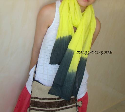 Yellow moroccan scarf