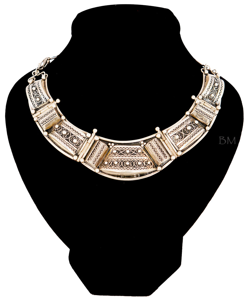 Syra Silver Plastron Necklace