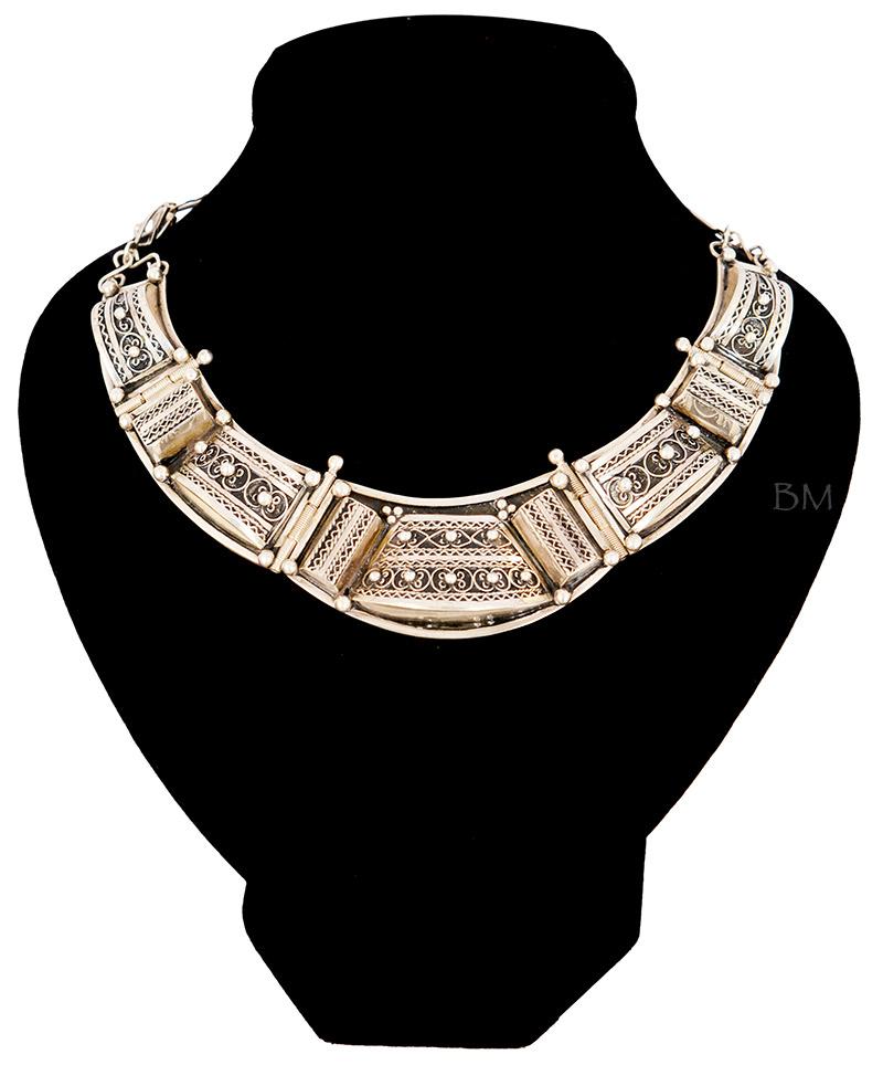 collier argent femme maroc