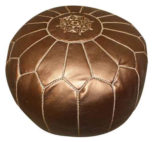 pouf art maroc bronze babouche maroc com. Black Bedroom Furniture Sets. Home Design Ideas