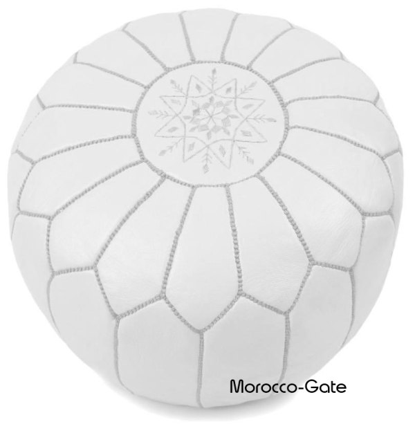 White Pouf Ottoman Awesome Moroccan Pouf Ottoman White Handmade From Genuine Leather Babouche