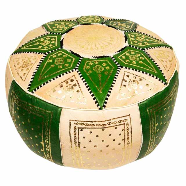 Green Marrakech pouffe