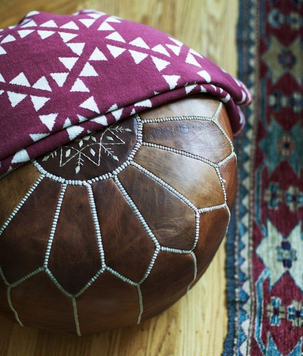 Le Maroc Ottoman Natural leather