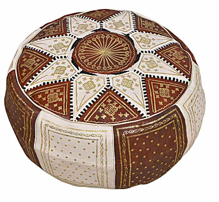 Brown Marrakech pouffe