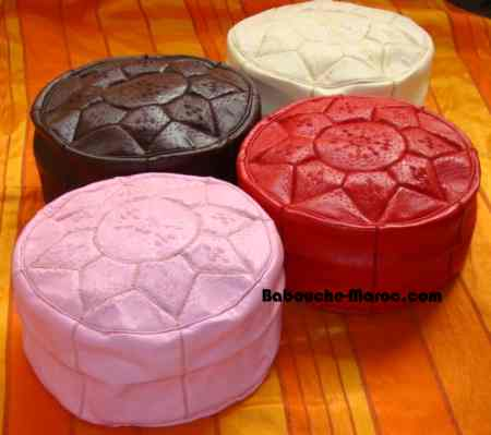Set of 4 colored pouffes