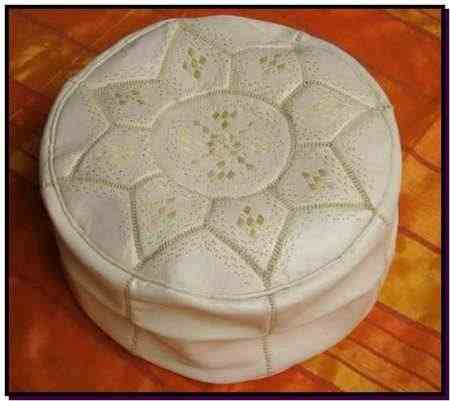 White design Pouf