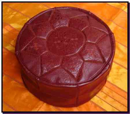 Brown design Pouf