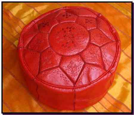 Red design Pouf