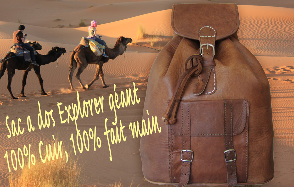 sac-a-dos-explorer-geant-format-normal very large Moroccan genuine leather backpack