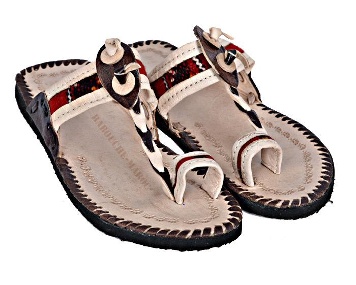 Man Leather flip flops