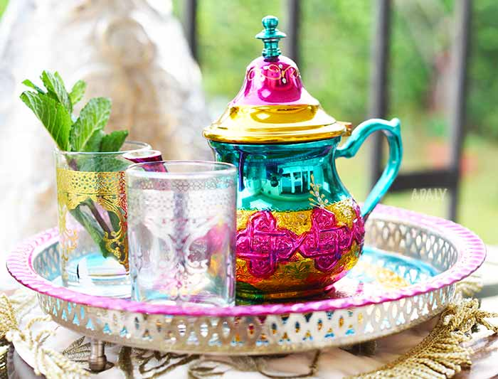 Fes Colored Teaset