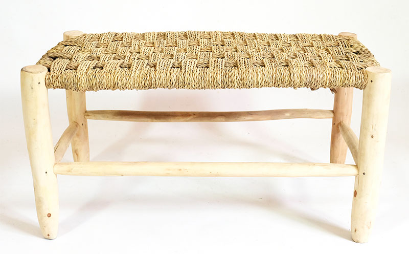 Tabouret Bois Naturel Large
