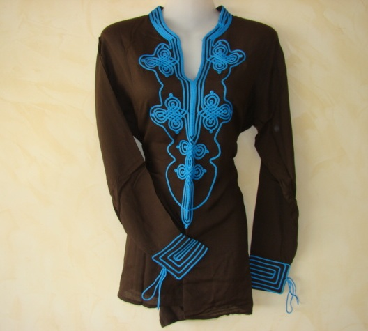 Amira Moroccan Tunic Brown